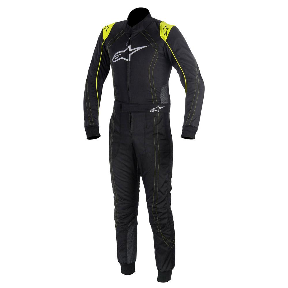 Alpinestars K-MX 9 Kart Suit Black & Fluo Yellow