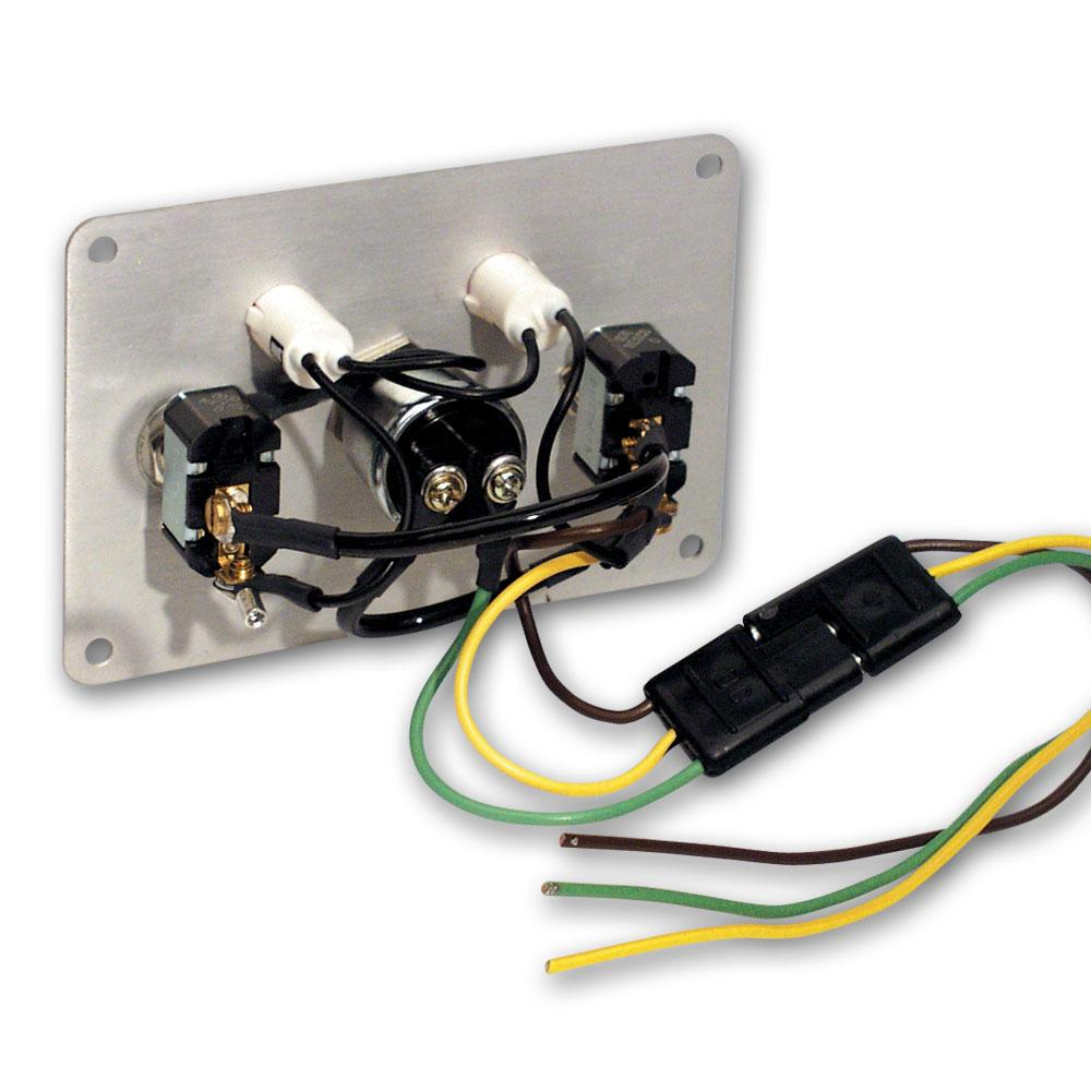 Longacre Aluminium Switch Panel With Accessory Switch From