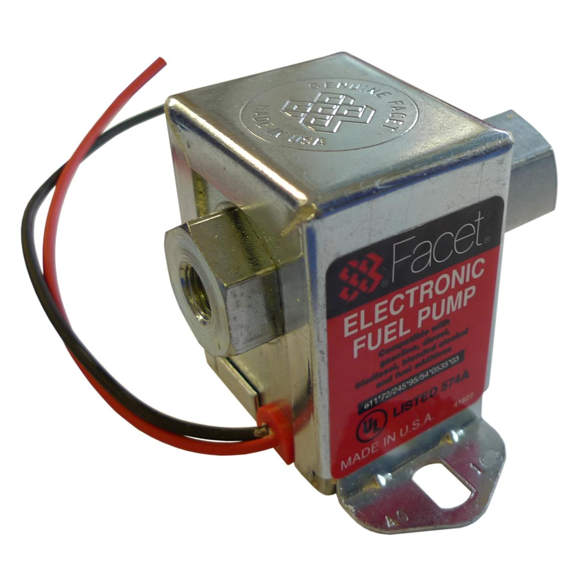Facet Solid State Electric Cube Fuel Pump 40106 From
