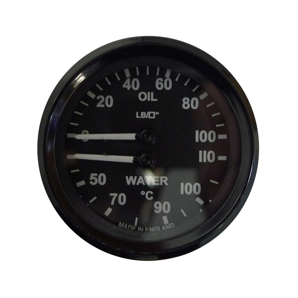Mocal 52mm Dual Oil Pressure and Water Temp Gauge from