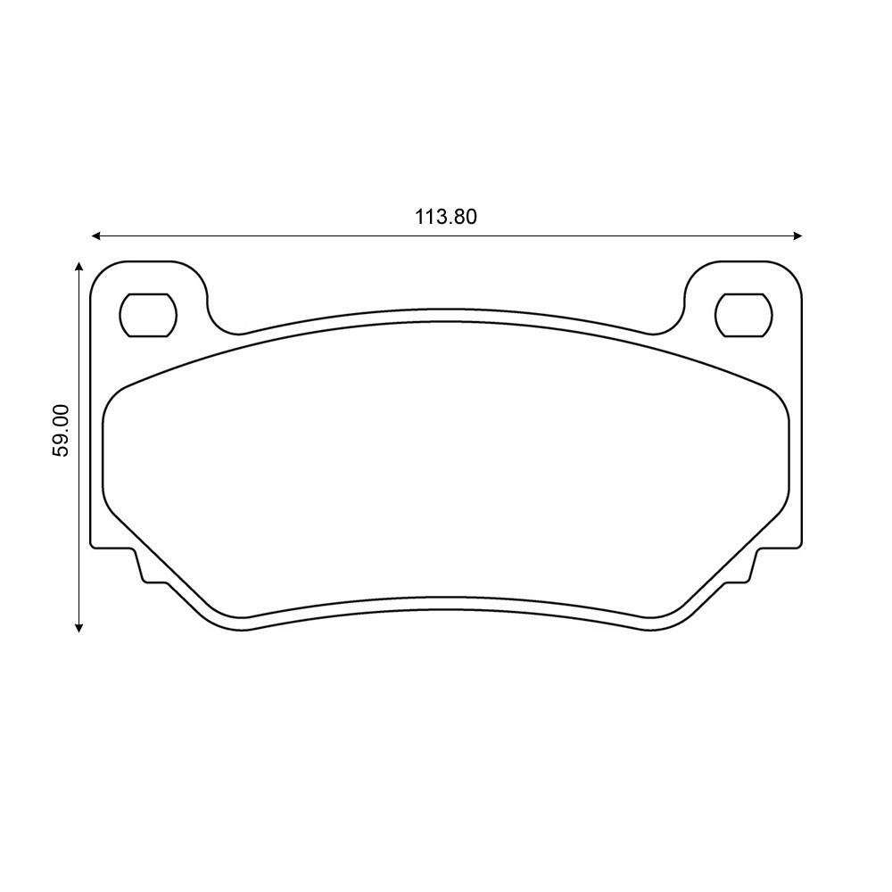 Mintex Racing Brake Pads MDB2027-M1144 from Merlin Motorsport