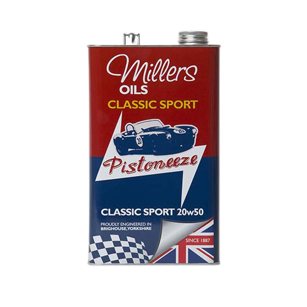 Millers classic sport 20w50 engine oil semi synthetic for Classic motor oil 20w50