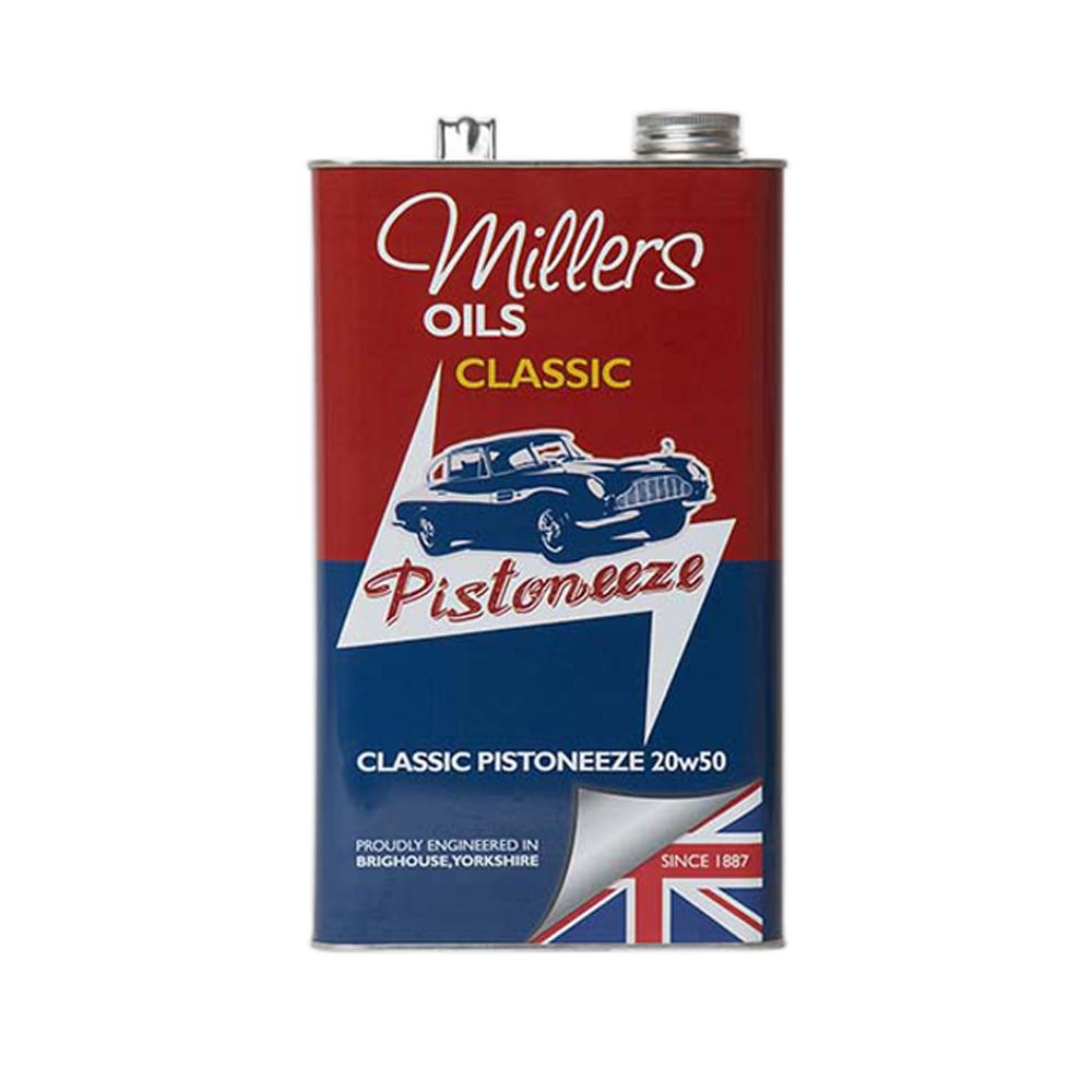 Millers Classic Pistoneeze 20W50 Mineral Oil (5 Litres)