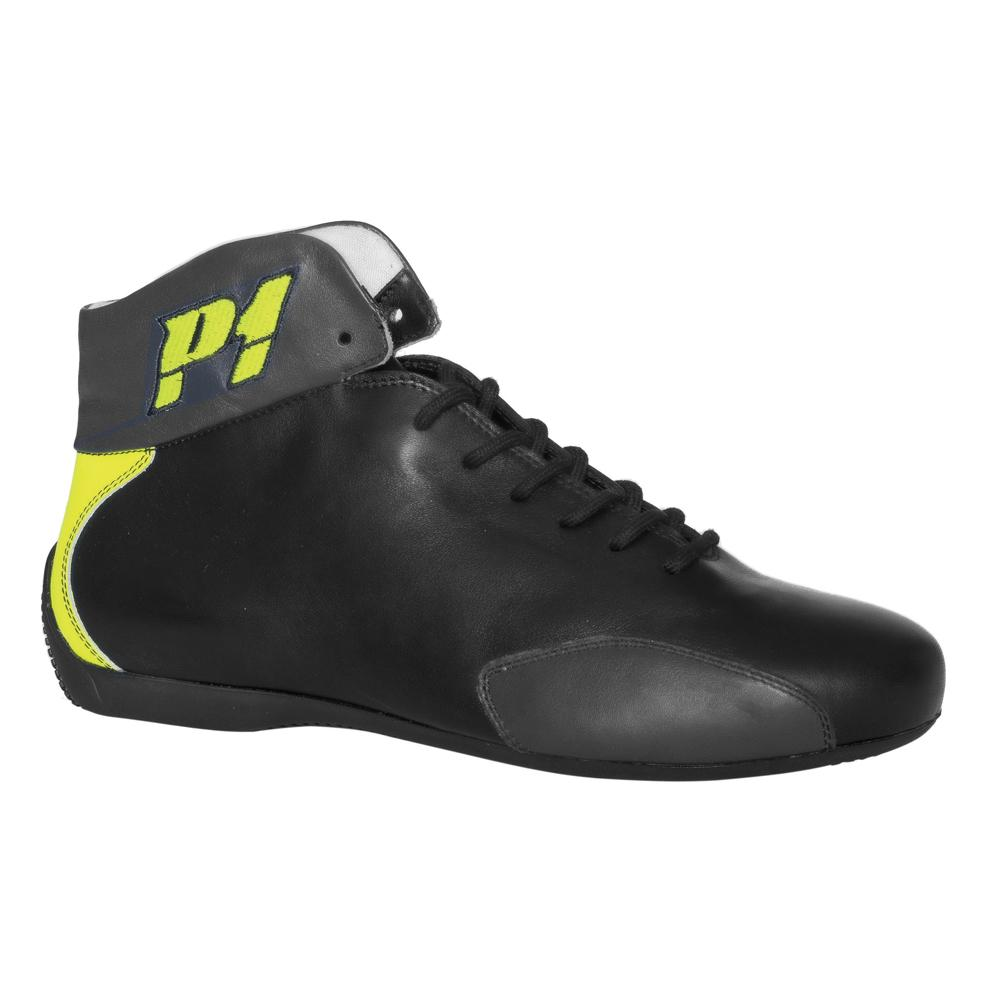 P1 Monza Race Boots in Black Size 42