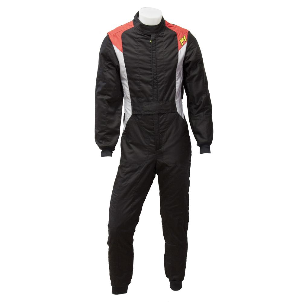 P1 Pro 3 Race Suit - 3 Layer FIA 8856-2000 Approved Suit in Black