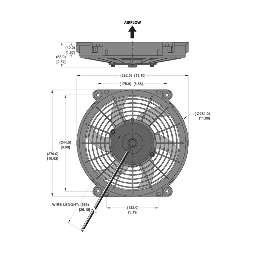 10 Inch Fan : Electric radiator cooling fan inch diameter from merlin