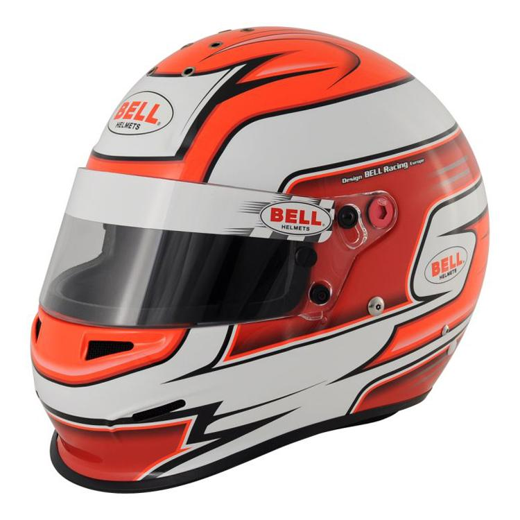 Bell Rs3 Pro Race Rally Full Face Helmet In Red From