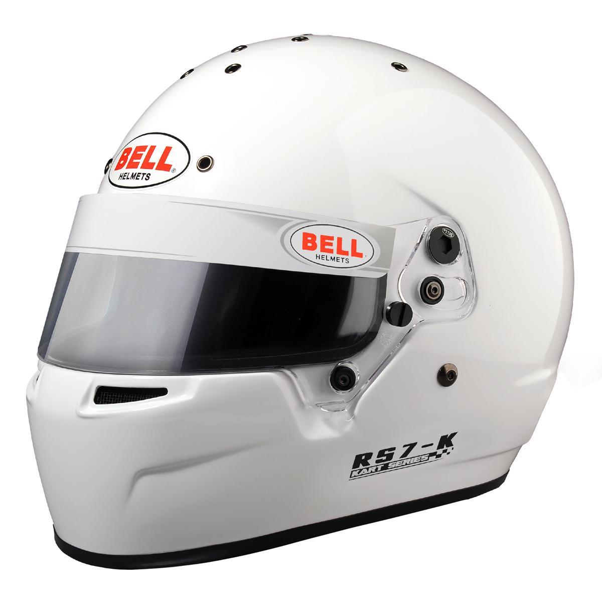 05999d93 Bell RS3 K Kart Racing Helmet in White from Merlin Motorsport