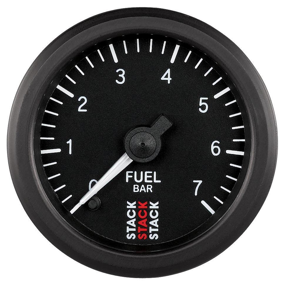 Stack professional fuel pressure gauge bar st