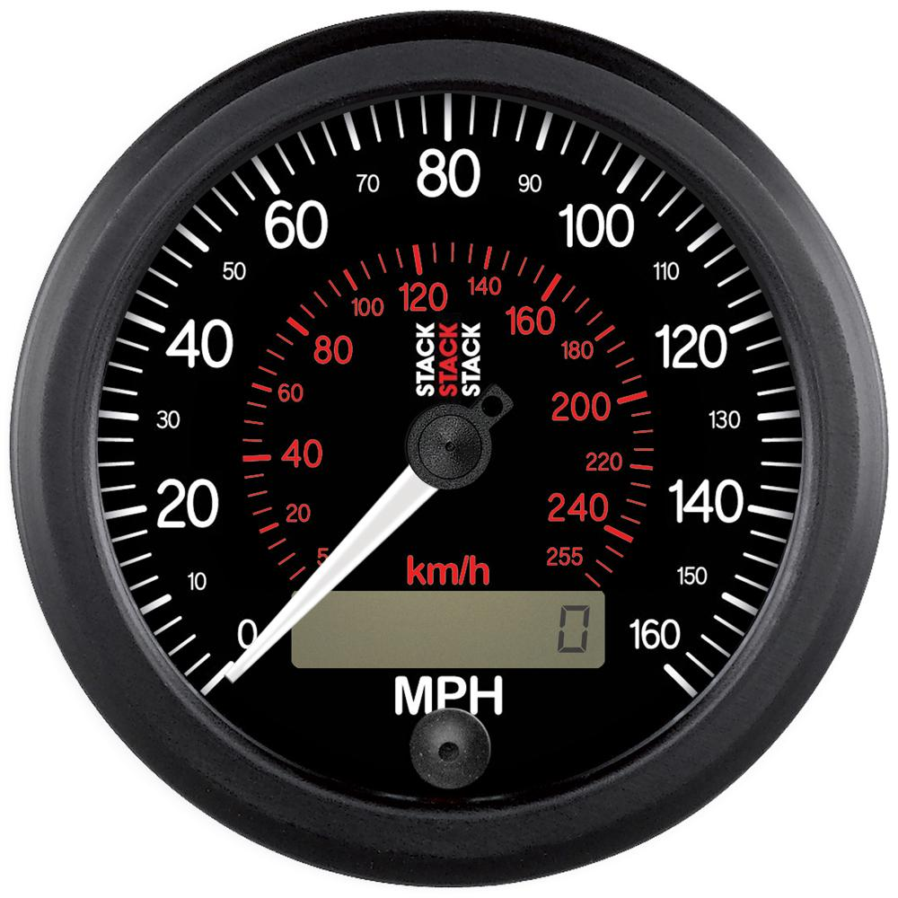Stack Professional Speedometer With Black Face St3801  3802