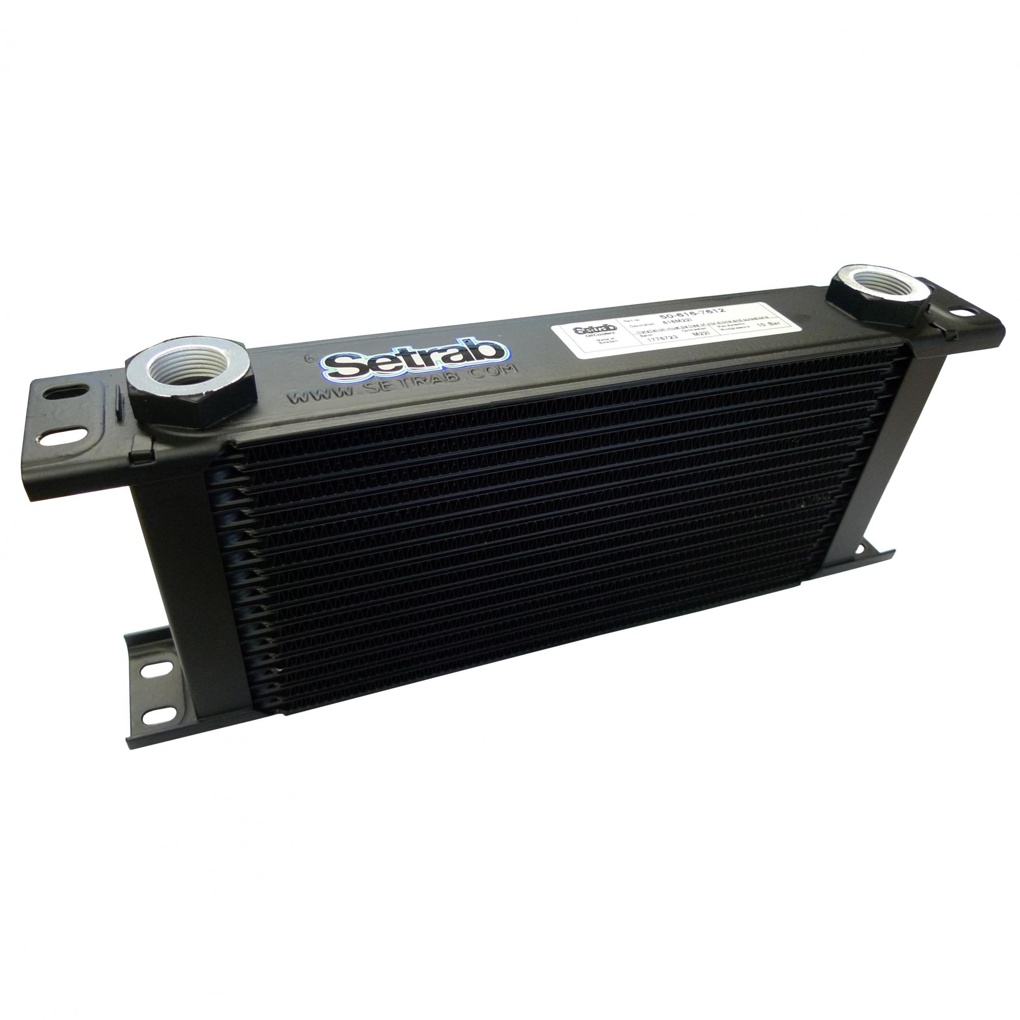 Setrab Oil Cooler 330mm 16 Row M22 Female