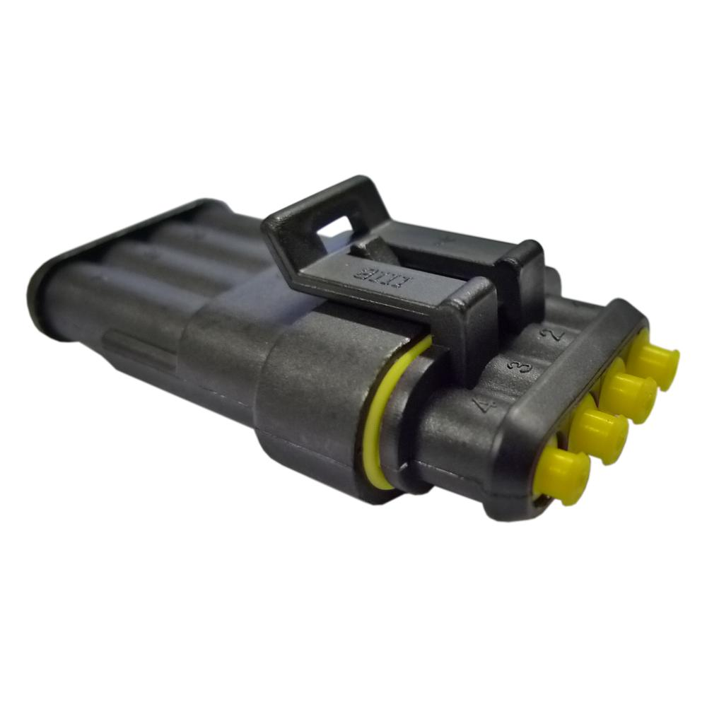 Four Pin Waterproof Electrical Connector from Merlin Motorsport