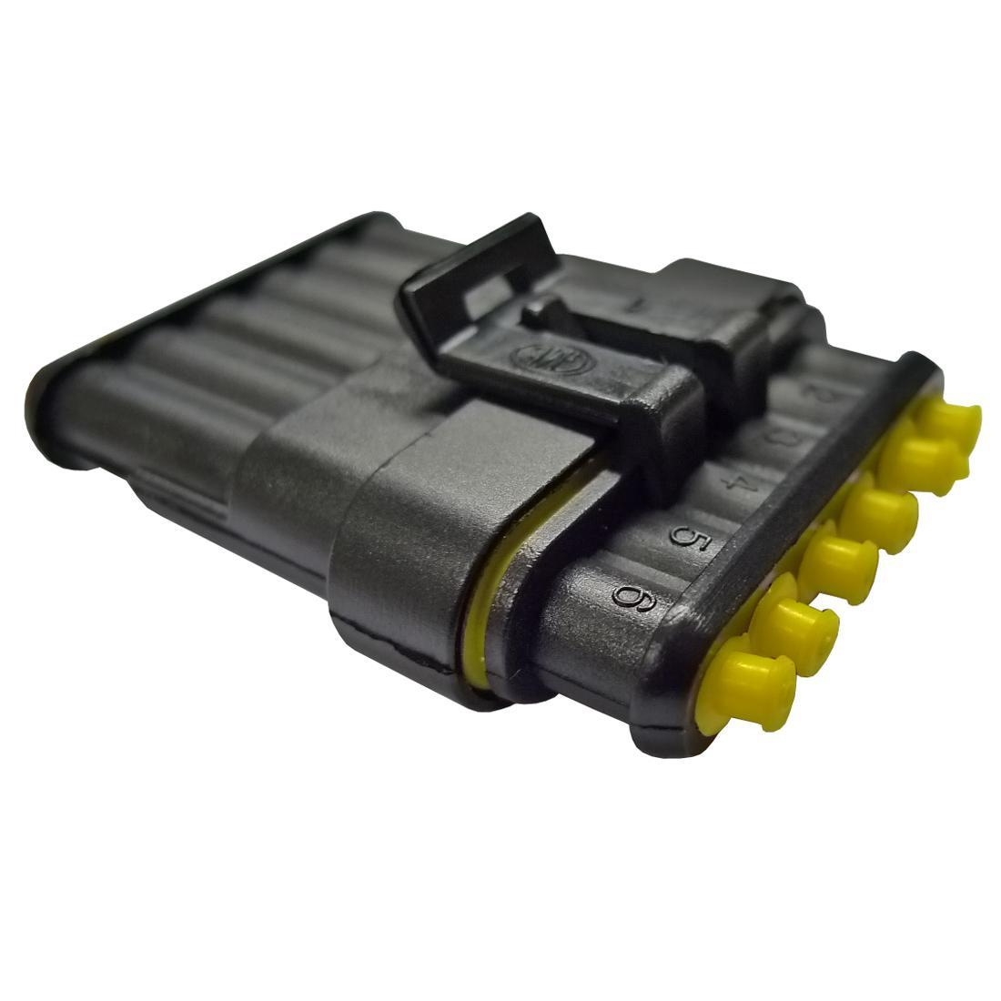 Six Pin Waterproof Electrical Connector From Merlin Motorsport