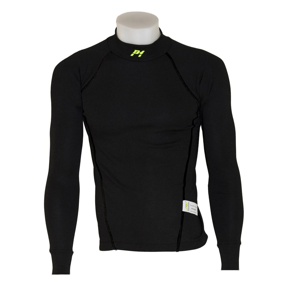 P1 Racewear Slim Fit Nomex Top Black With Black Stitching Size 5