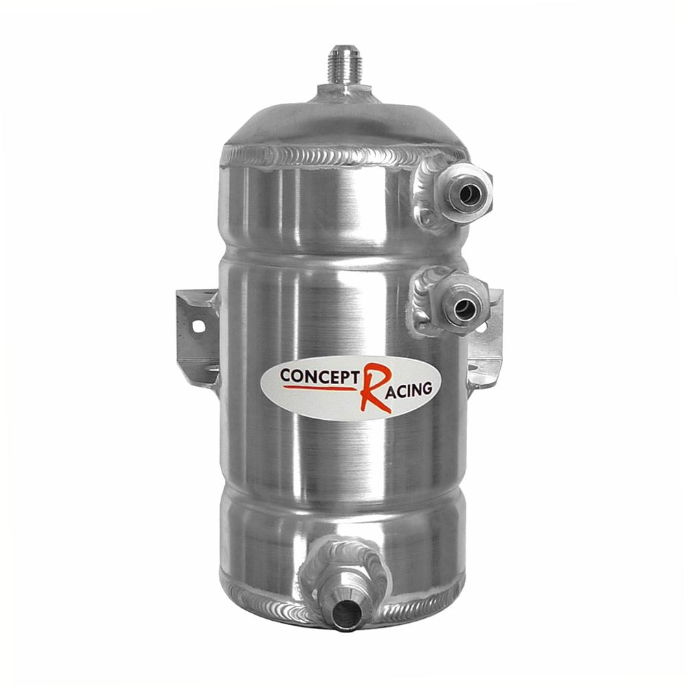 Universal Fuel Swirl Pot 1.5 Litre with JIC Threads (Bulkhead Mount)