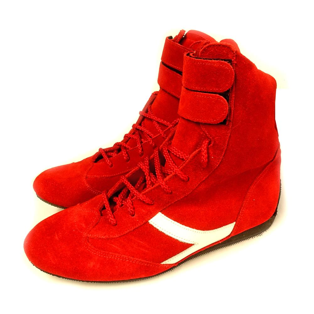 Nomex High Top Race Boots in Red Suede