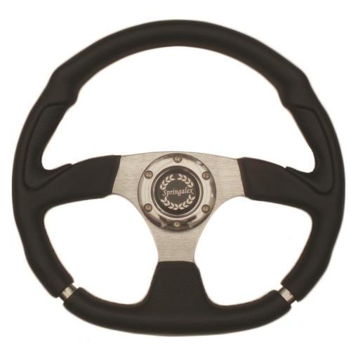 Springalex 350mm Sports Steering Wheel with Flat Bottom