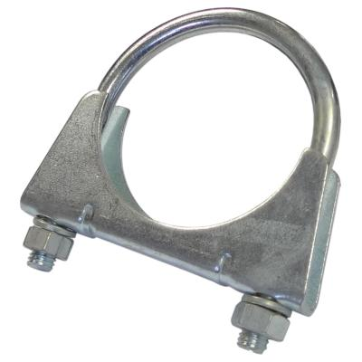 """Large Exhaust Clamps 2 1//8/"""" 54mm U bolts joint clamp"""