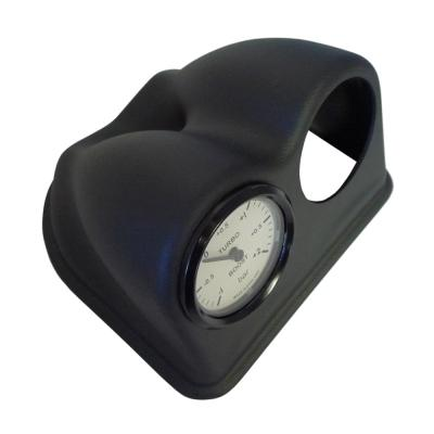 Black Leather Grain Effect Double Gauge Mount For Universal Fitment