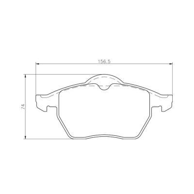 Mintex Racing Brake Pads MDB1813-M1144 For Chevrolet