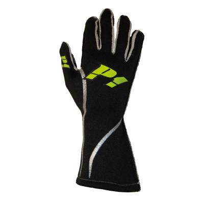 P1 Racewear Grip Race Gloves in Black