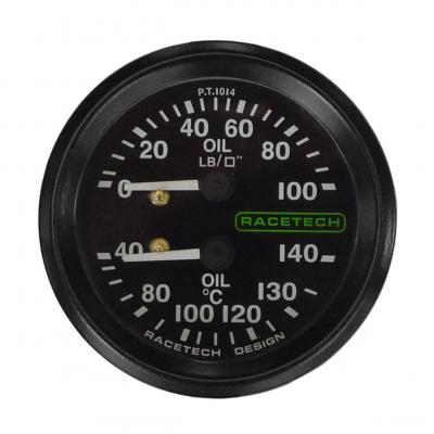 Racetech Dual Oil Pressure And Oil Temperature Gauge From