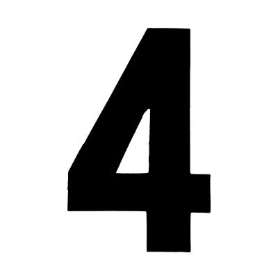 9 Inch Tall Race Number 4 | RN-9-4 | Merlin Motorsport
