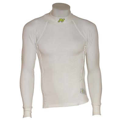 P1 Racewear Slim Fit Nomex Top White With White Stitching