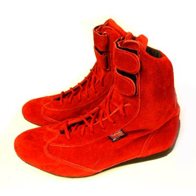 Nomex High Top Race Boots in Red Suede Size 6